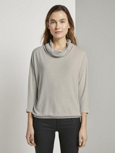 TOM TAILOR Sweatshirt »Weiches Sweatshirt mit Rollkragen«