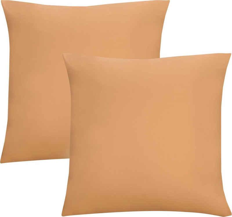 Kissenbezug »Michi«, Biberna (2 Stück), Jersey (1 Pack mit 2 Stück), dichte, feinfädige Single-Qualität