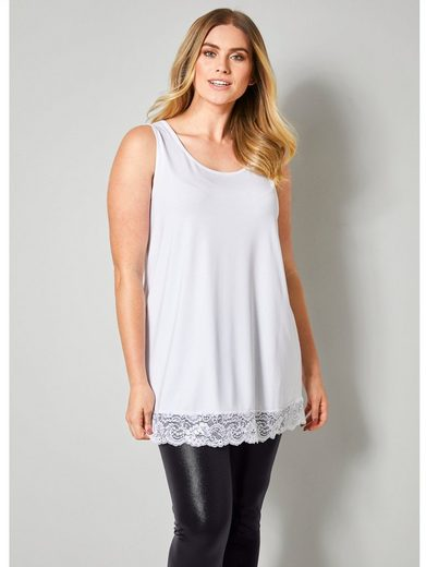 Sara Lindholm by Happy Size Longtop mit Spitze