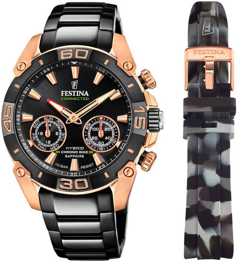 Festina Chronograph »Chrono Bike 2021 - Special Edition Connected, F20548/1«, (Set, 2-tlg., mit Wechselband)
