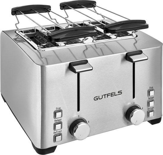 Gutfels Toaster TA 8301 isw, 4 kurze Schlitze, für 4 Scheiben, 1500 W