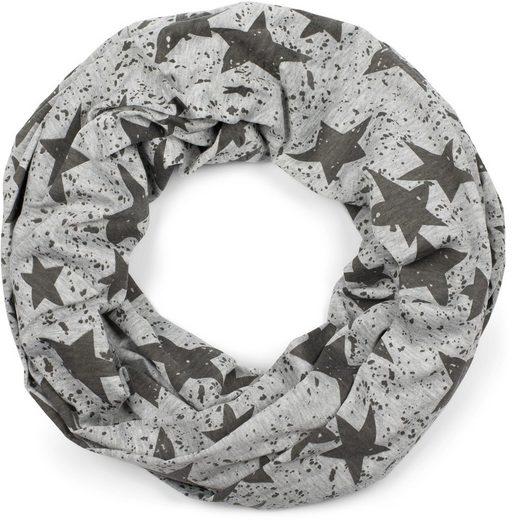 styleBREAKER Loop »Loop Schal mit Sterne Splat Style Print« Loop Schal mit Sterne Splat Style Print