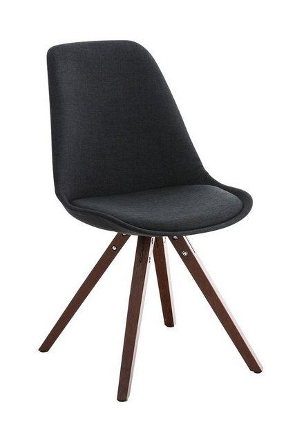 Stühle und Bänke - CLP Esszimmerstuhl »Pegleg Stoff Square« mit Sitzpolster und eckigen Holzbeinen  - Onlineshop OTTO
