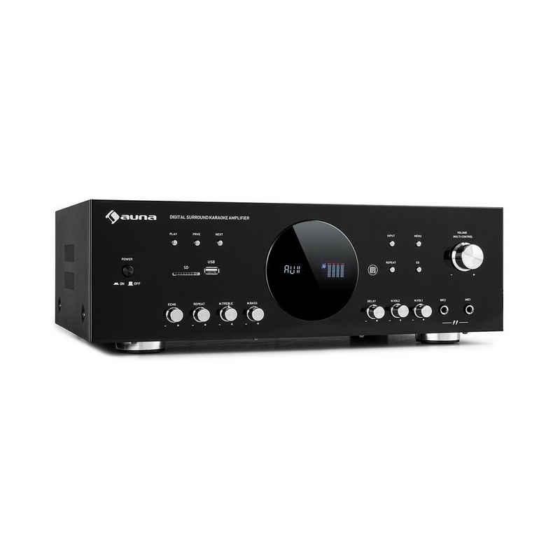Auna AMP-218 BT Digital-Surround-Verstärker 5.1 2x120W 3x50W RMS BT 2xMikro Verstärker