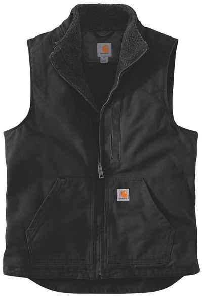 Carhartt Fellweste »WASHED DUCK LINED MOCK NECK VEST« mit praktischen Fronttaschen