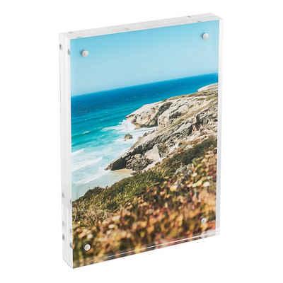 HMF Bilderrahmen »469«, für 2 Bilder, magnetisch, aus Acrylglas, 10 x 15 cm, Transparent