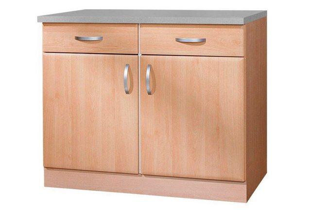 Küchenschränke - wiho Küchen Unterschrank »Prag« Breite 100 cm  - Onlineshop OTTO