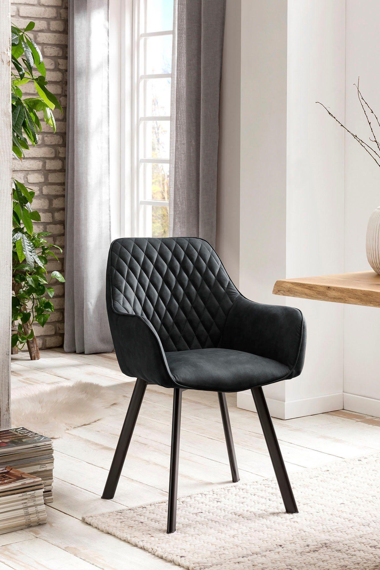 SalesFever Armlehnstuhl Rückenlehne mit Rautensteppung, im 2er Set online kaufen   OTTO