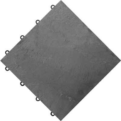 florco® Terrassenplatten »stone«, 30x30 cm, 4-St., Klickfliesen