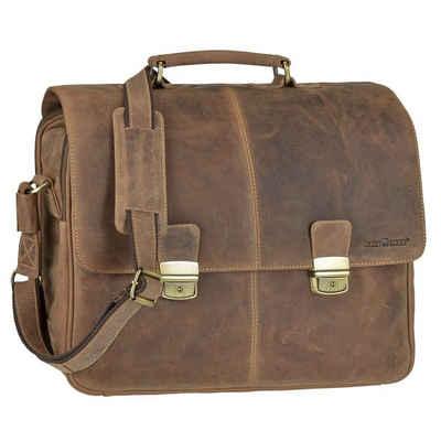 Greenburry Aktentasche »Vintage«, Businesstasche, Notebooktasche, für Herren, rustikal