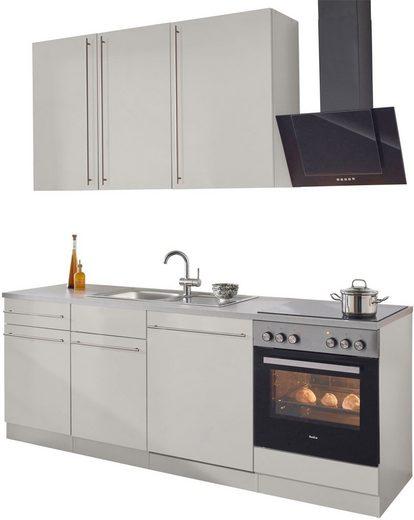 wiho Küchen Küchenzeile »Chicago«, mit E-Geräten, Breite 220 cm