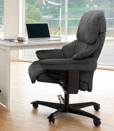 Stressless® Relaxsessel »Reno«, mit Home Office Base, Größe M, Gestell Braun