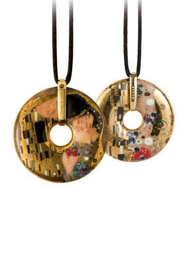 Goebel Kette mit Anhänger »Der Kuss, Artis Orbis Gustav Klimt, 66989575«, mit Kristall