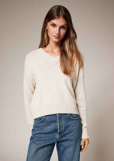 comma casual identity Langarmshirt »Pullover mit Strickmuster« (1-tlg)