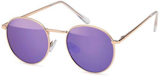 styleBREAKER Sonnenbrille »Sonnenbrille Pantobrille rund« Verspiegelt