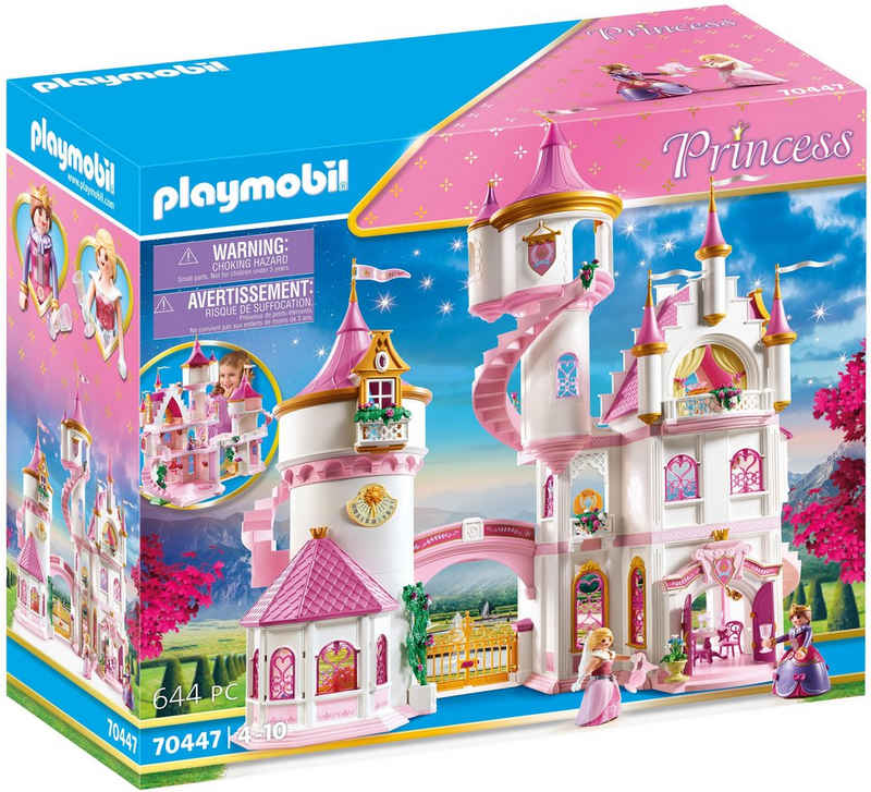 Playmobil® Konstruktions-Spielset »Großes Prinzessinnenschloss (70447), Princess«, (644 St), Made in Germany