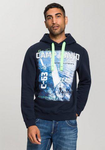 CAMP DAVID Sportinis megztinis su gobtuvu su viel...