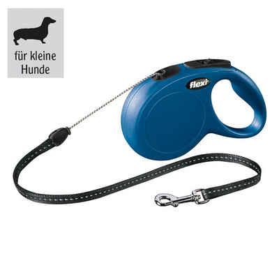 flexi Flexileine »flexi® NEW Classic, 5 m Seil-Leine, bis 12 kg«, Kunststoff (1-tlg)