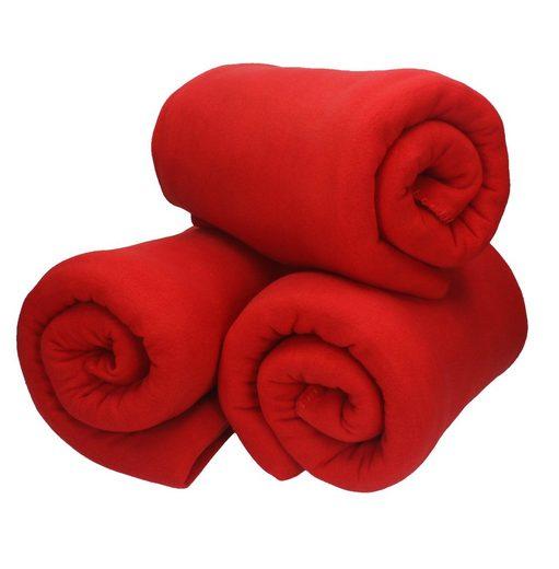 Wohndecke »3 Stück Fleecedecke Kuscheldecke Wohndecke in Größe 130x170 cm Qualität 220 g/m²«, Betz