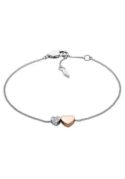 Fossil Armband »Herzen, JF03095998«, mit Glassteinen