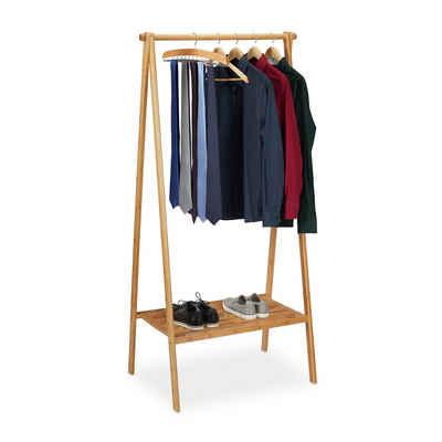 relaxdays Kleiderständer »Kleiderständer Bambus klappbar«