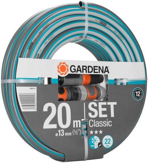 """GARDENA Gartenschlauch »Classic, 18008-20«, 13 mm (1/2""""), 20 Meter, mit Systemteilen"""