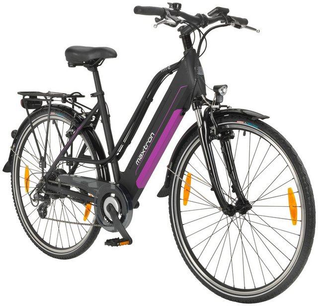 MAXTRON E-Bike Trekking »MT-2«, 28 Zoll, 8 Gang Heckmotor, 418 Wh*