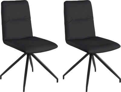 Places of Style Drehstuhl »Loxley« (Set, 2 Stück), in Kunstleder- oder Luxus-Microfaser Bezug auswählbar, vier Farbvarianten, Sitzhöhe 46 cm