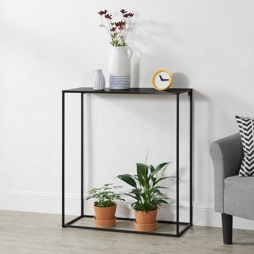 en.casa Konsolentisch, »Mandal« Flurtisch Sideboard 92x80x32 cm schwarz