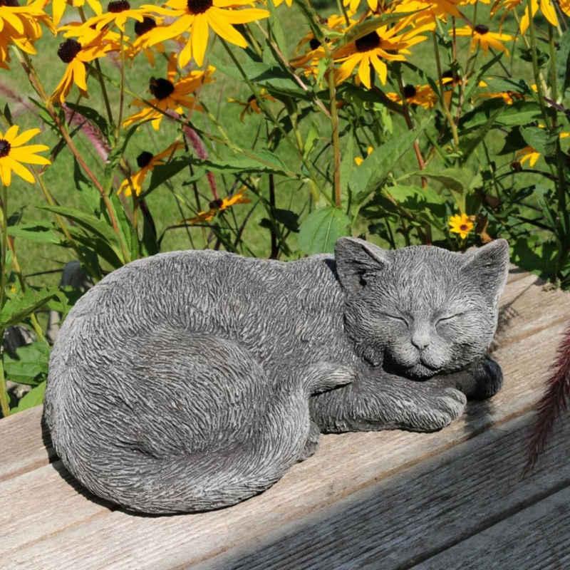 440s Dekoobjekt »440s Katze schlafend Antiksteinguss L ca. 28 cm«