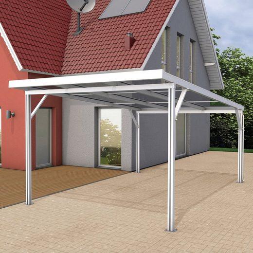 GUTTA Einzelcarport »Premium«, 200 cm Einfahrtshöhe, BxT: 309x562 cm, Dacheindeckung Polycarbonat klar