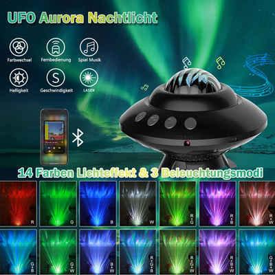 MUPOO LED Nachtlicht »LED Projektor Sternenhimmel Musik Lampe Starry Mond für Baby Kinder Teen Erwachsene Schlafzimmer/Geburtstag/Party/Home Decor«