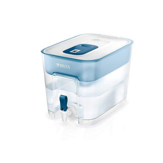 BRITA Wasserfilter Flow mit Zapfhahn 8,2 L weiß/petrol