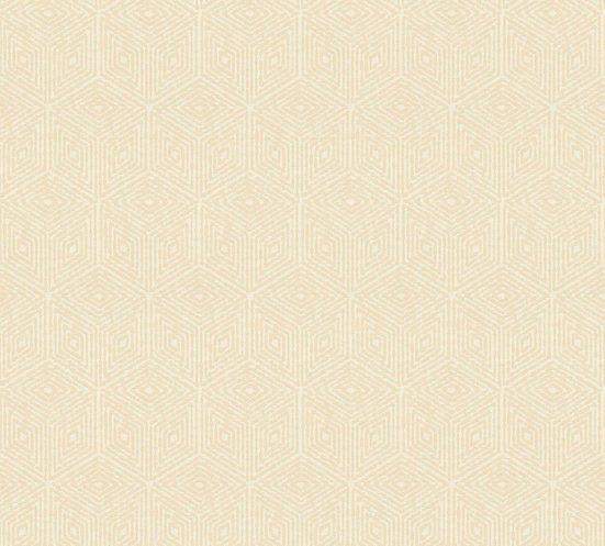 living walls Textiltapete »Di Seta«, samtig, leicht glänzend, gemustert, geometrisch, (1 St), samtig