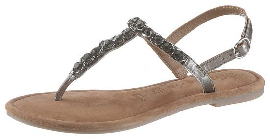 Tamaris »Milos« Sandale im trendigen Metallic-Look