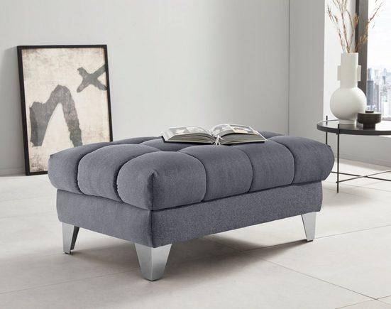Places of Style Hockerbank »Bardi Luxus«, belastbar bis 140kg, wahlweise mit Stauraum, auch in Bezug Aqua Clean - leicht mit Wasser zu reinigen