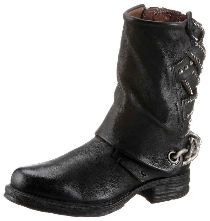 A.S.98 »SAINTEC« Stiefel mit effektvoller Zierkette