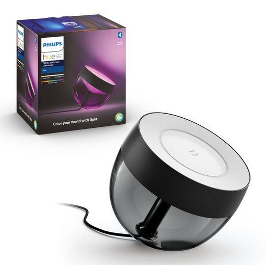 Philips Hue LED Tischleuchte »White & Color Ambiance Tischleuchte Iris in Schwar«, Tischleuchte, Nachttischlampe, Tischlampe