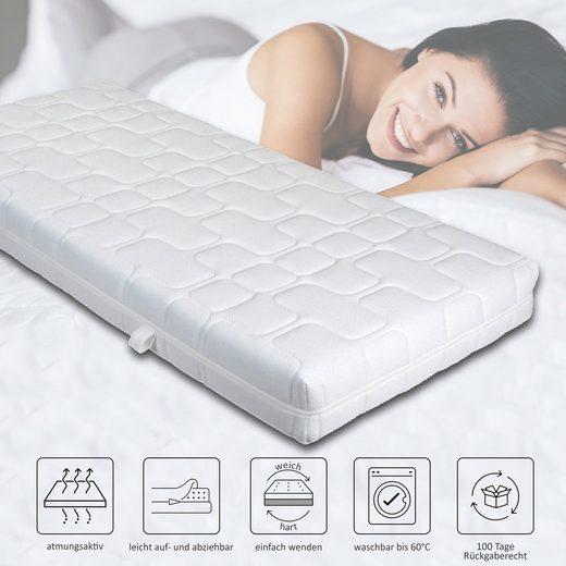 Komfortschaummatratze »Matratze Ortho Dynamic«, HOME DELUXE, 19 cm hoch, formstabil & atmungsaktiv