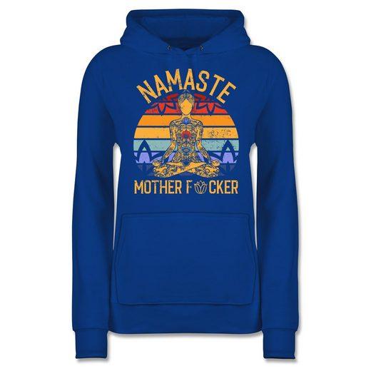 Shirtracer Hoodie »Namaste Mother - Wellness, Yoga & Co. - Damen Premium Kapuzenpullover - Pullover & Hoodies« namaste hoodie damen