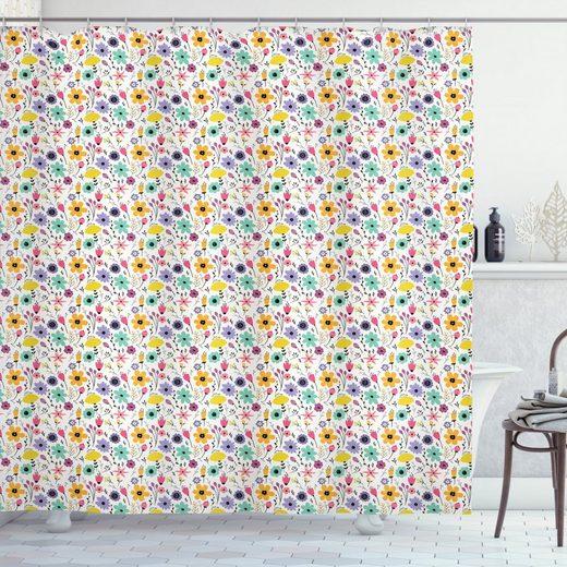 Abakuhaus Duschvorhang »Moderner Digitaldruck mit 12 Haken auf Stoff Wasser Resistent« Breite 175 cm, Höhe 180 cm, Blumen Kreative Blüten Frühling