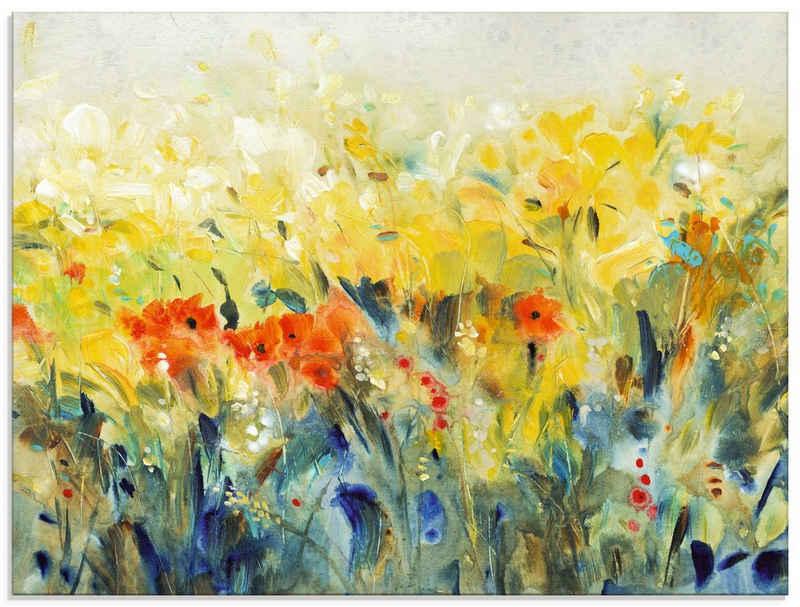 Artland Glasbild »Schwingende Blumen II«, Blumenwiese (1 Stück)