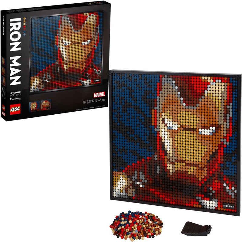 LEGO® Konstruktionsspielsteine »Marvel Studios Iron Man - Kunstbild (31199) LEGO® Art«, (3167 St), Made in Europe