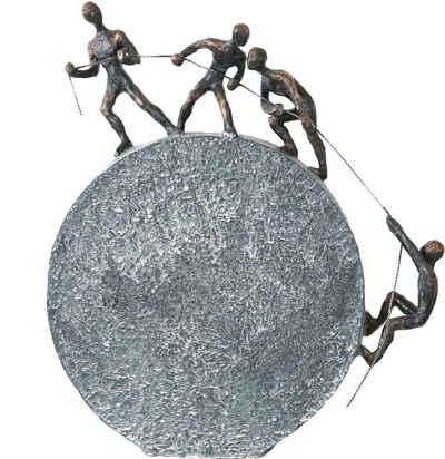 Casablanca by Gilde Dekofigur »Skulptur Lifting« (1 Stück), Dekoobjekt, Höhe 36 cm, mit Spruchanhänger, Wohnzimmer