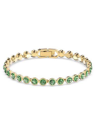 Swarovski Armband »Tennis Armband, grün, vergoldet, 5555824«, mit Swarovski® Kristallen