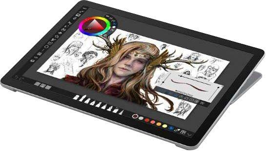 Microsoft Surface Go 2 128 8GB Convertible Notebook 26,67 cm 10,5 Zoll, Intel Core m3, UHD Graphics 615, 128 GB SSD