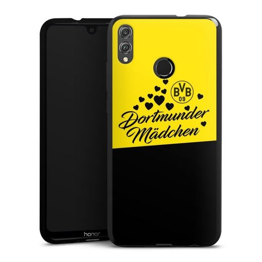 DeinDesign Handyhülle »BVB Dortmunder Mädel Herzen« Huawei Honor 8X, Hülle BVB Borussia Dortmund Dortmunder Mädchen