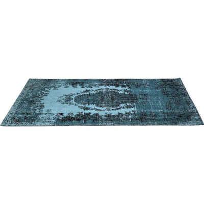 Designteppich »Teppich Kelim Pop Türkis 200x300cm«, KARE, Höhe 200 mm