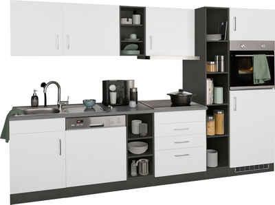 HELD MÖBEL Küchenzeile »Paris«, mit E-Geräten, Breite 290 cm, wahlweise mit Induktionskochfeld