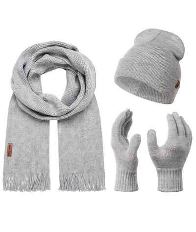 Rock Creek Mütze & Schal »Schal Mütze Handschuhe Set U-100«